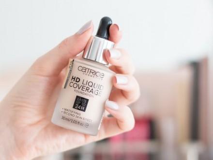 Тональная основа CATRICE HD Liquid Coverage Foundation 030 Sand Beige: фото