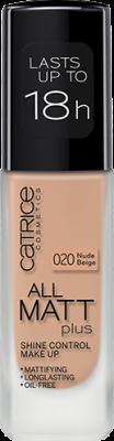 Основа тональная CATRICE All Matt Plus Shine Control Make Up 020 Nude Beige бежевый: фото