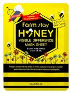 Маска с медом и прополисом FARMSTAY Honey visible difference mask sheet 23 мл: фото