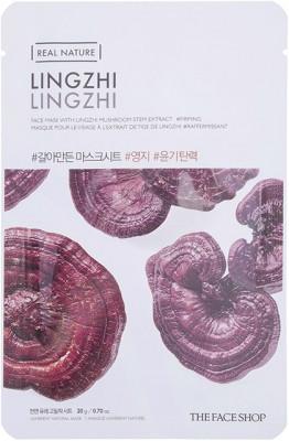 Маска с экстрактом линчжи THE FACE SHOP Real Nature Lingzhi Face Mask: фото