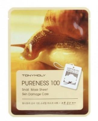 Тканевая маска с улиточным муцином TONY MOLY Pureness 100 snail mask sheet 21 мл: фото