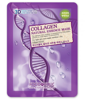 Тканевая 3D маска с коллагеном FoodaHolic Collagen Natural Essence Mask 23мл: фото
