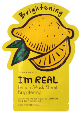 Маска с экстрактом лимона TONY MOLY I'm Real Lemon Mask Sheet 21 мл: фото