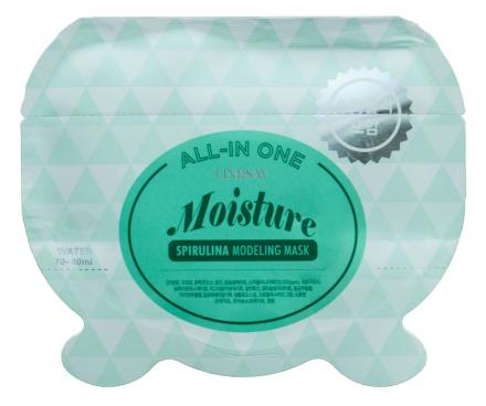 Альгинатная маска со спирулиной LINDSAY Moisture spirulina all-in one modeling mask 26 г.: фото