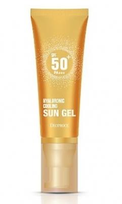Солнцезащитный гель с гиалуроновой кислотой DEOPROCE Hyaluronic cooling sun gel 50г: фото