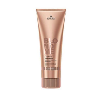 Бондинг-шампунь кератиновое восстановление для волос блонд Schwarzkopf Professional Blondme Keratin Restore Bonding 250 мл: фото