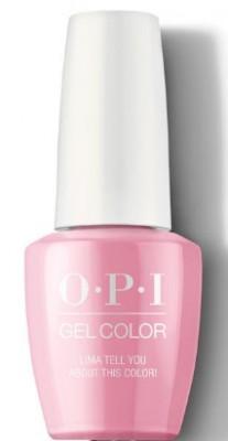 Гель для ногтей OPI GelColor Peru Lima Tell You About This Color! GCP30: фото