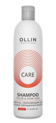 Шампунь сохраняющий цвет и блеск окрашенных волос OLLIN Care Color & Shine Save Shampoo 250мл: фото