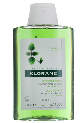 Шампунь с экстрактом Крапивы для жирных волос Klorane Oily Prone Hair 200 мл: фото