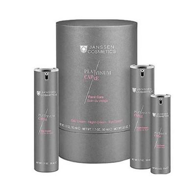 Набор Janssen Cosmetics Platinum Face Care c пептидами и коллоидной платиной: фото