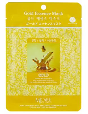Маска тканевая золото Mijin Gold Essence Mask 23г: фото