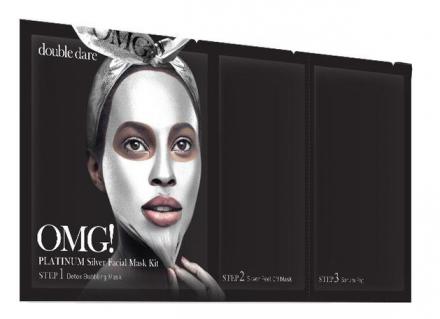 Трёхкомпонентный комплекс масок АКТИВНЫЙ ЛИФТИНГ И ВОССТАНОВЛЕНИЕ Double Dare OMG! Platinum Silver Facial Mask: фото