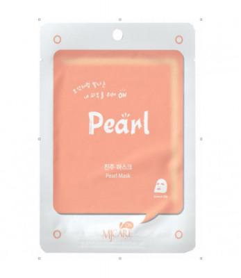 Маска тканевая с жемчугом Mijin on Pearl mask pack 22г: фото