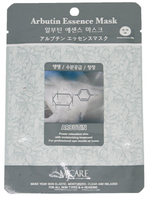 Маска тканевая с арбутином Mijin Arbutin Essence Mask 23г: фото