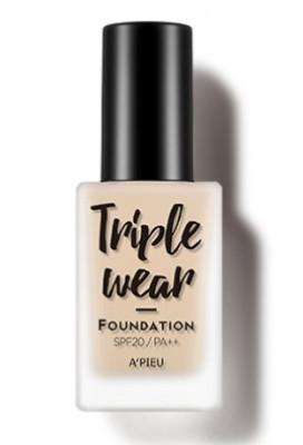Тональная основа A'PIEU Triple Wear Foundation SPF20 тон 5 Sand 35г: фото