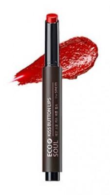 Помада для губ THE SAEM Eco Soul Kiss Button Lips 11 Red siren 2г: фото