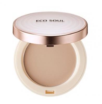Пудра санскрин THE SAEM Eco Soul UV Sun Pact 23 Natural Beige 11г: фото