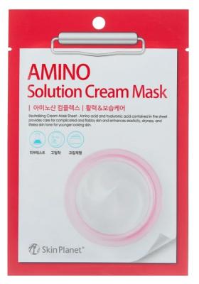 Маска для лица тканевая с аминокислотами Mijin Skin Planet AMINO solution CREAM MASK 30г: фото