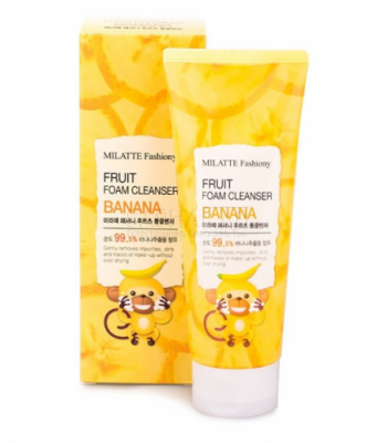 Пенка для умывания Milatte Fashiony Fruit Foam Cleanser Banana Банан, 150 мл: фото