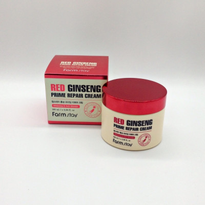 Крем Восстанавливающий с экстрактом красного женьшеня FARMSTAY RED GINSENG PRIME REPAIR CREAM 100 мл: фото