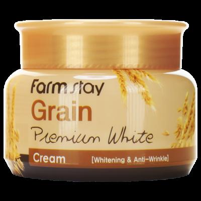 Крем осветляющий с маслом ростков пшеницы FARMSTAY GRAIN PREMIUM WHITE CREAM 100г: фото