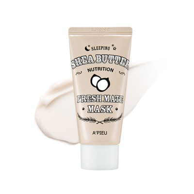 Маска для лица ночная A'PIEU Fresh Mate Shea Butter Mask Nutrition 50мл: фото
