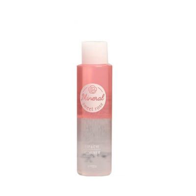 Двухфазное средство для снятия макияжа с губ и глаз с розовой водой A'PIEU Lip & Eye Wash Remover Sweet Rose 100ml: фото