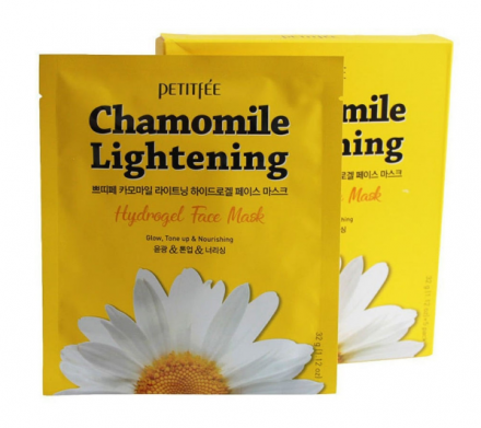 Маска гидрогелевая c экстрактом ромашки PETITFEE Chamomile Lightening Hydrogel Face Mask 32г*5шт: фото