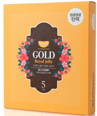 Маска гидрогелевая PETITFEE KOELF GOLD & ROYAL JELLY MASK 30г*5шт: фото