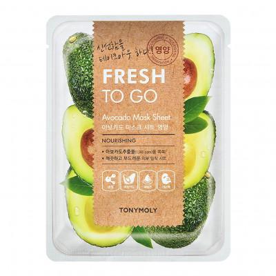 Освежающая тканевая маска для лица с экстрактом авокадо Tony Moly Fresh To Go Avocado Mask Sheet 20г: фото