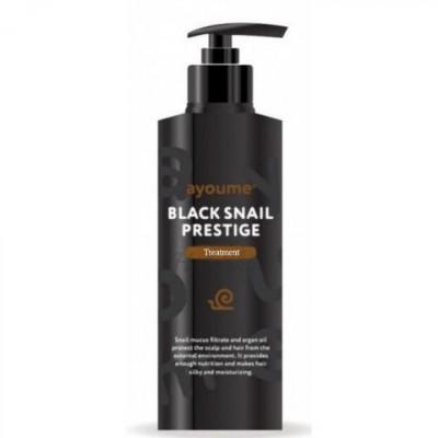Маска для волос с муцином улитки AYOUME BLACK SNAIL PRESTIGE TREATMENT 100ml: фото