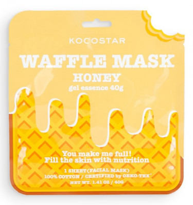 Маска вафельная питательная с экстрактом мёда Kocostar Waffle Mask Honey 40 г: фото