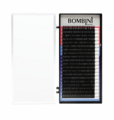 Ресницы Bombini Черные, 20 линий, D, 0.10, 12: фото