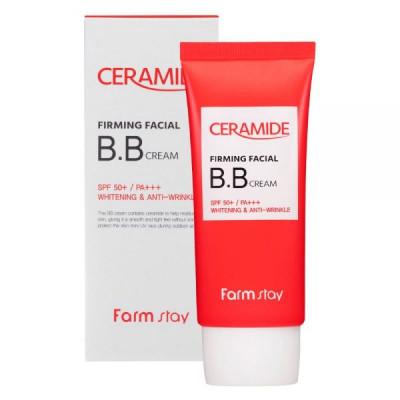 BB-крем укрепляющий с керамидами FarmStay Ceramide Firming Facial BB Cream SPF 50+/PA+++ 50г: фото