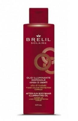 Масло для волос и тела после пребывания на солнце для сияющего эффекта BRELIL SOLAIRE OLIO ILLUMINANTE DOPOSOLE 150мл: фото