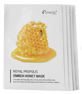 Набор Тканевых масок для лица МЕД/ПРОПОЛИС ESTHETIC HOUSE Royal Propolis Enrich Honey Mask 25 мл*5шт: фото