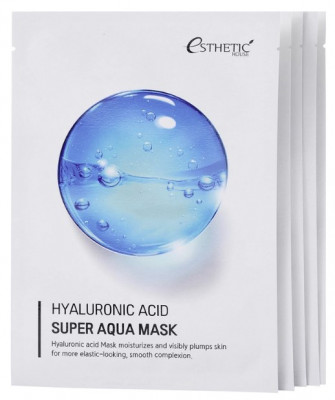 Набор Тканевых масок для лица Гиалуроновая кислота ESTHETIC HOUSE Hyaluronic Acid super aqua mask 25 мл*5шт: фото