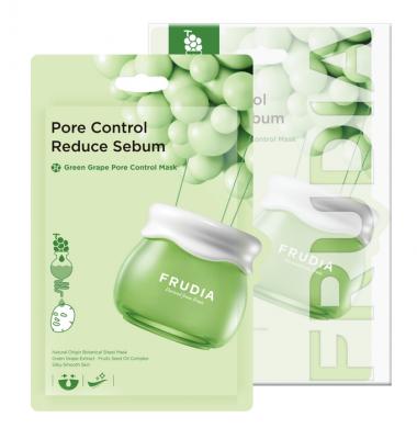 Себорегулирующая тканевая маска с зеленым виноградом Frudia  Green Grape Pore Control Mask 20мл*10шт: фото