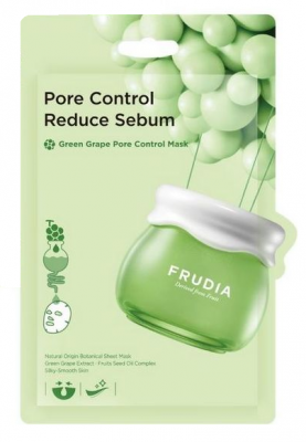 Себорегулирующая тканевая маска с зеленым виноградом Frudia Green Grape Pore Control Mask 20 мл: фото
