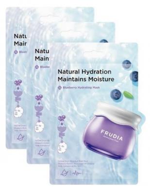Увлажняющая тканевая маска с черникой Frudia Blueberry Hydrating Mask 20мл*3шт: фото