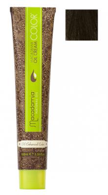Краска для волос Macadamia Oil Cream Color 5/2 СВЕТЛЫЙ ЗЕЛЕНО МАТОВЫЙ КАШТАНОВЫЙ 100мл: фото