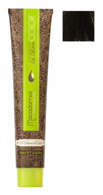 Краска для волос Macadamia Oil Cream Color 4/2 СРЕДНИЙ ЗЕЛЕНО МАТОВЫЙ КАШТАНОВЫЙ 100мл: фото