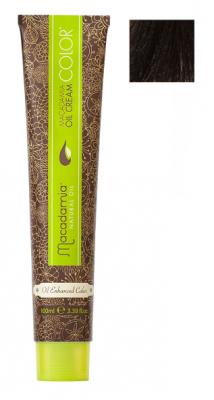 Краска для волос Macadamia Oil Cream Color 5.35 СВЕТЛЫЙ ЗОЛОТИСТЫЙ ШОКОЛАДНЫЙ КАШТАНОВЫЙ 100мл: фото
