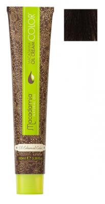 Краска для волос Macadamia Oil Cream Color 5.73 СВЕТЛЫЙ ШОКОЛАДНЫЙ КАШТАНОВЫЙ 100мл: фото