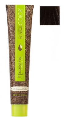 Краска для волос Macadamia Oil Cream Color 4.23 СРЕДНИЙ ТЕПЛЫЙ ШОКОЛАДНЫЙ КАШТАНОВЫЙ 100мл: фото