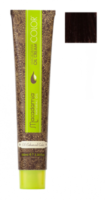 Краска для волос Macadamia Oil Cream Color 4.62 КРАСНО РАДУЖНЫЙ СРЕДНИЙ КАШТАНОВЫЙ 100мл: фото