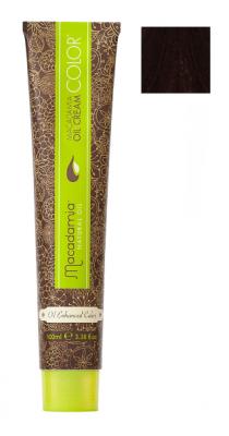 Краска для волос Macadamia Oil Cream Color 5.55 ЯРКИЙ КРАСНОЕ ДЕРЕВО СВЕТЛО КАШТАНОВЫЙ 100мл: фото