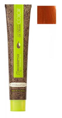 Краска для волос Macadamia Oil Cream Color 7.44 ЯРКИЙ МЕДНЫЙ СРЕДНИЙ БЛОНДИН 100мл: фото