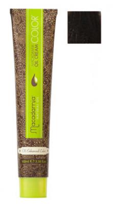 Краска для волос Macadamia Oil Cream Color 4.1 СРЕДНИЙ ПЕПЕЛЬНЫЙ КАШТАНОВЫЙ 100мл: фото