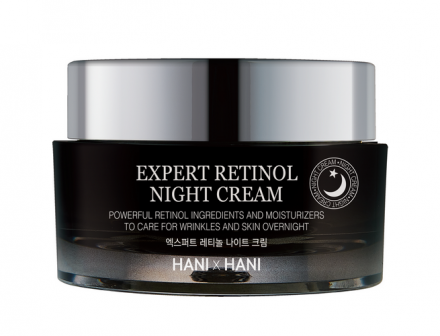 Ночной эксперт-крем для лица с ретинолом HANIxHANI Expert Retinol Night Cream 50 мл: фото